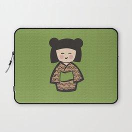 Geisha Dress Code (green) Laptop Sleeve