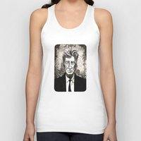 david lynch Tank Tops featuring David Lynch by Emma Ridgway