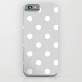 Paper texture (Grey & White Polka Dots) iPhone Case