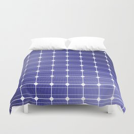 In charge / 3D render of solar panel texture Duvet Cover