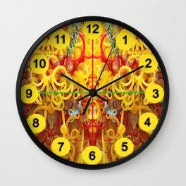 Oriental Style Swirls and Curls Wall Clock