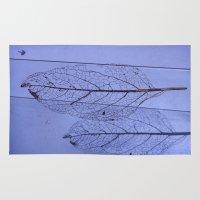leaf Area & Throw Rugs featuring leaf by Bunny Noir