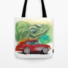 Raptors love vettes Tote Bag