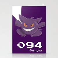 gengar Stationery Cards featuring Pkmn #094: Gengar by Michelle Rakar