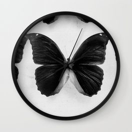 Dramatic Butterfly Wall Clock