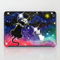 space cat iPad Cases featuring Space Cat by Andrew Hitchen