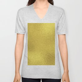 Simply Metallic in Yellow Gold Unisex V-Neck