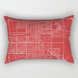 Oxnard Map, USA - Red Rectangular Pillow