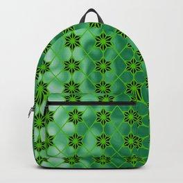 Green Stars Geometric Backpack