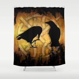 Huginn & Muninn - Odins ravens Shower Curtain