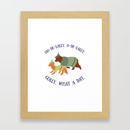 Robin Hood and Little John Framed Art Print
