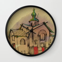 Russian church Wall Clock