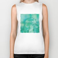 mermaid Biker Tanks featuring Ocean Queen by Graphic Tabby