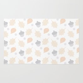 Autumn Acorn Pattern Rug