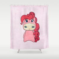 mlp Shower Curtains featuring A Boy - Pinkie Pie by Christophe Chiozzi
