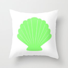 Seashell (Light Green & White) Throw Pillow