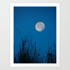 Faded Moon Art Print