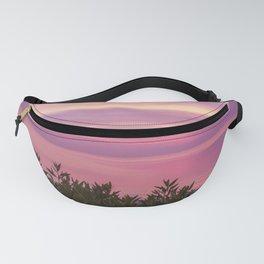 Purple Sunset Beach Fanny Pack