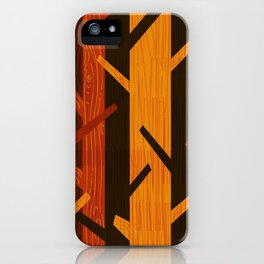 Retro Fall Woods by Friztin iPhone Case