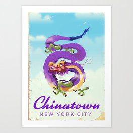 Chinatown New york city. Art Print