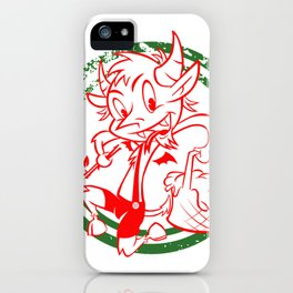 Happy little Krumpas iPhone Case
