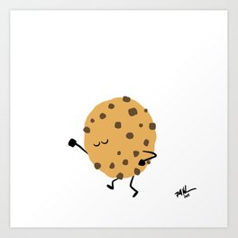 Dancing Desserts: Groovy Cookie Art Print
