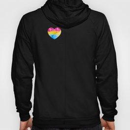 Pansexual Heart print LGBTQ Pride Gift Idea Hoody