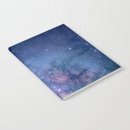 purple blue universe night sky stars galaxy Notebook