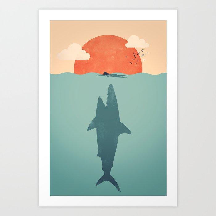 Shark Attack Art Print