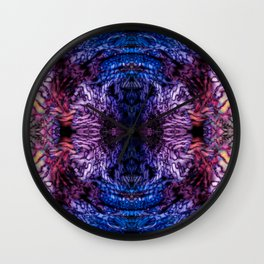 Stained Glass (Blue & Purple) Wall Clock