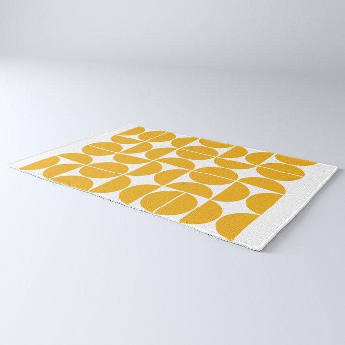 Mid Century Modern Geometric 04 Yellow Rug