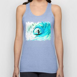Solo - Surfing the big blue wave Unisex Tank Top