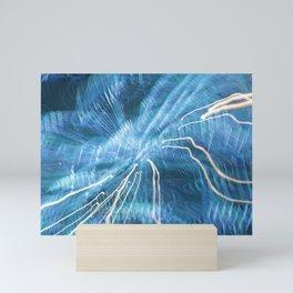 Blue splash Mini Art Print