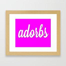 adorbs poster Framed Art Print