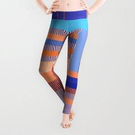 Scandinavian Moon (Blue Salmon Colours) Leggings