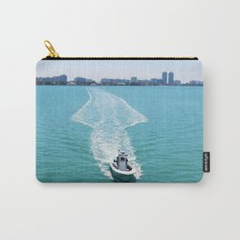 motor boat at the bay Carry-All Pouch