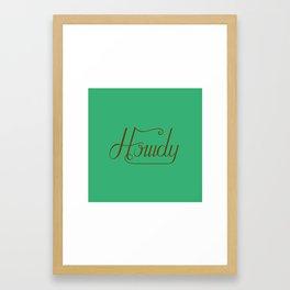 Howdy 02 Framed Art Print