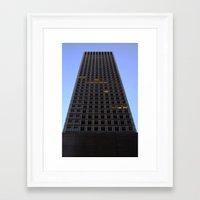 tetris Framed Art Prints featuring Tetris by Charles Sinclair