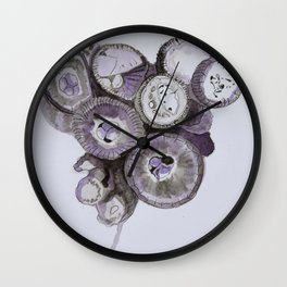 Mushroom (2nd Purple) Wall Clock