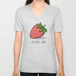 Red Strawberry Unisex V-Neck