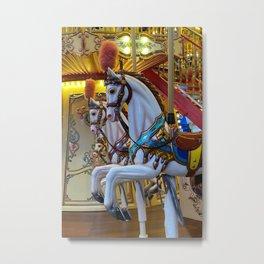 Vintage Carousel Horses Metal Print