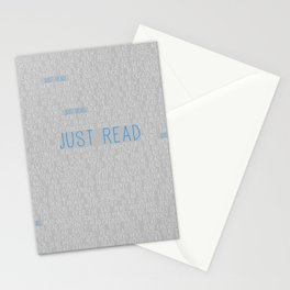 Just Read Grey Stationery Cards