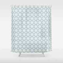 Roma blue and white Shower Curtain