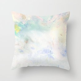 Snowy Brushstrokes Throw Pillow