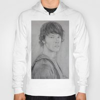 sam winchester Hoodies featuring Sam Winchester by Brooke Shane