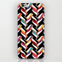 herringbone penguin iPhone Skin