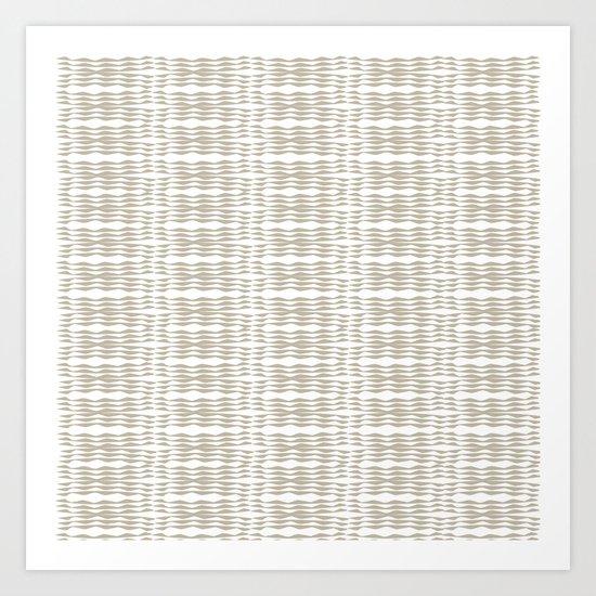 Beige waves Art Print