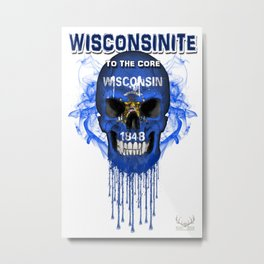 To The Core Collection: Wisconsin Metal Print