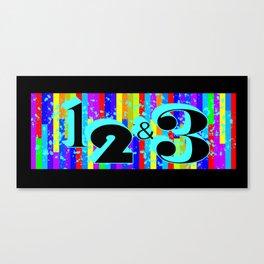 1 2 & 3 Canvas Print