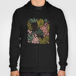 Wild tropical young woman Hoody